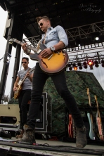 "Chase Bryant showing off his mad guitar skills at ""Country Night Lights""!"