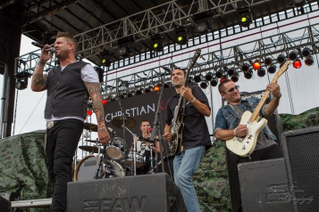 """Ohio's own Christian Kaser Band put on a performance full of energy for the crowd at """"Country Night Lights"""""""