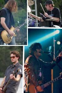 (Above Left: Matt Steele, guitar Lower Left, Shane Breon, Bass, Upper Right, Doug Merritt, drums, Lower Right, Phil Salazar, vocals/guitar)