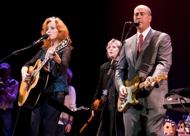 Bonnie Raitt Nanci Griffith and John Hall
