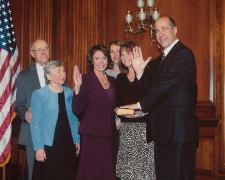 John and his class in congress plus Nancy Pelosi