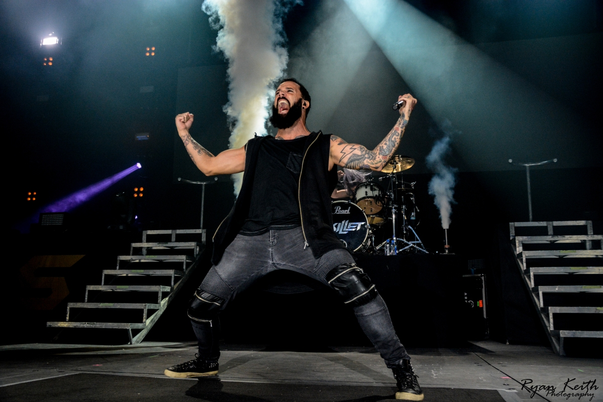 Skillet - exclusive photos from Rupp Arena in Lexington, KY