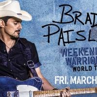 "Brad Paisley's ""Weekend Warrior World Tour"" rocks KFC Yum Center March 23rd!"