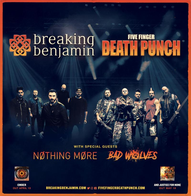 Breaking Benjamin Five Finger Punch Co Headlining Tour
