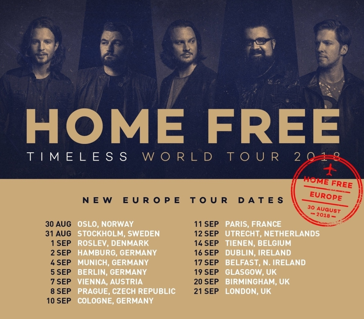 Home Free Announces Europe Tour Dates