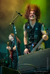 Frankie Bello and Jonathan Donais of Anthrax