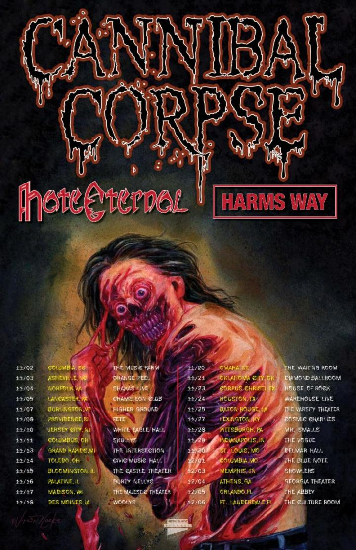 CANNIBAL CORPSE TOUR ADMAT DATES web